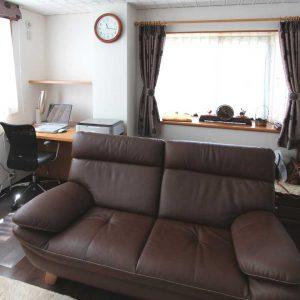 床暖房のある暖かいリビング空間