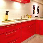 真紅のキッチン