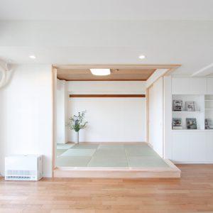 L型間仕切建具と壁面収納